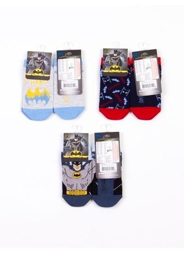 Batman  Lisanslı 6 Çift Patik Çocuk Çorap 18198 Sarı